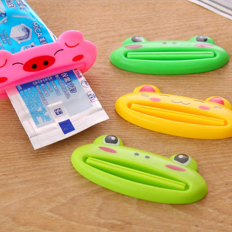 1Pcs Animal Tube Rolling Holder Squeezer Toothpaste Dispenser Plastic Press Squeezing Clip Tool Home Bathroom Accessories Random
