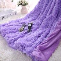 Blanket Super Soft Long Shaggy Fuzzy Fur Faux Fur Warm Elegant Cozy With Fluffy Sherpa Throw