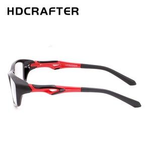 Image 2 - HDCRAFTER tr90 mens sports eye glasses frames fashion prescription myopia hyperopia optical glasses frame for men spectacle