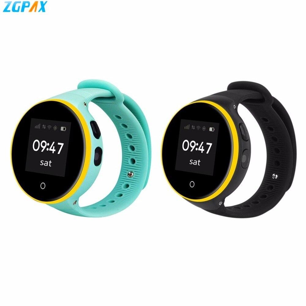 ZGPAX enfants montre intelligente 1.22 IPS écran podomètre GPS SOS Smartwatch Support App Wifi carte SIM enfants montre-bracelet pour Xiaomi iOS