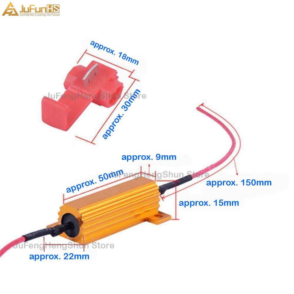 10 Pcs 50 W 6 R ohm Résistance de charge Fix Ampoule DEL rapide Hyper Flash Turn Signal Blink