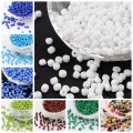 50g Opaque 2/3/4mm 6/0 8/0 12/0 HOT Round Glass Seed Micro Tiny Small Jewelry Loose Beads Black White Red Green Yellow Blue