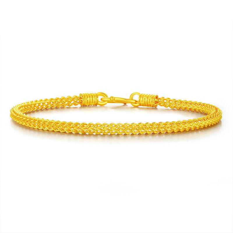 24K Pure Gold Bracelet Real 999 Solid Gold Bangle Upscale Beautiful Butterfly Romantic Trendy Classic Jewelry Hot Sell New 2019-in Bracelets & Bangles from Jewelry & Accessories    2