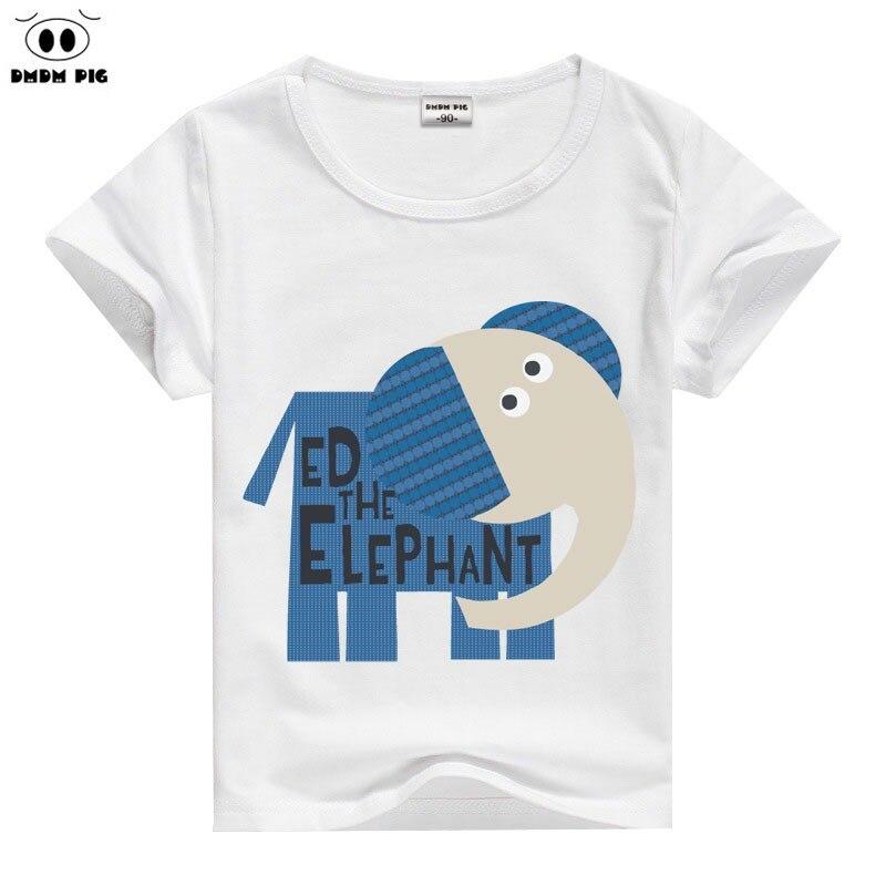 DMDM PIG cotton Short Sleeve T Shirts For Girls Cartoon Giraffe T-shirts baby tops boys t shirts children's clothing