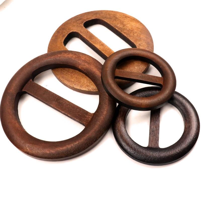Fivela de cinto de madeira feita à mão, acessórios de roupa, costura, artesanato de madeira, tamanho misto diy, garniture 50-80mm 1 peça