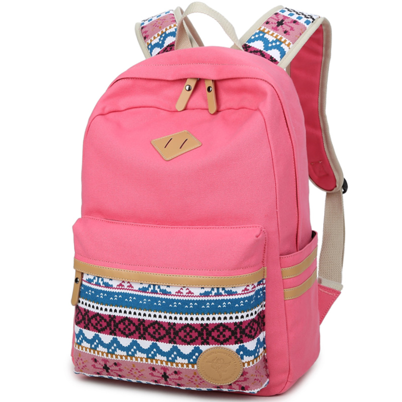 Ethnic Women Backpack for School Teenagers Girls Vintage Stylish School Bag Ladies Canvas Backpack Female Back Pack High Quality
