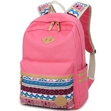 Ethnische frauen rucksack für die schule jugendliche mädchen vintage stilvolle schultasche damen leinwand rucksack weiblichen back pack hohe qualität