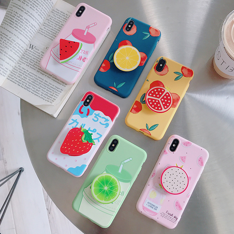 Cute Summer Finger Ring Holder Cases For iphone XR X XS Max 6 6S 7 8 Plus Cute Candy Color Soft Simple Fashion Phone Case NEW