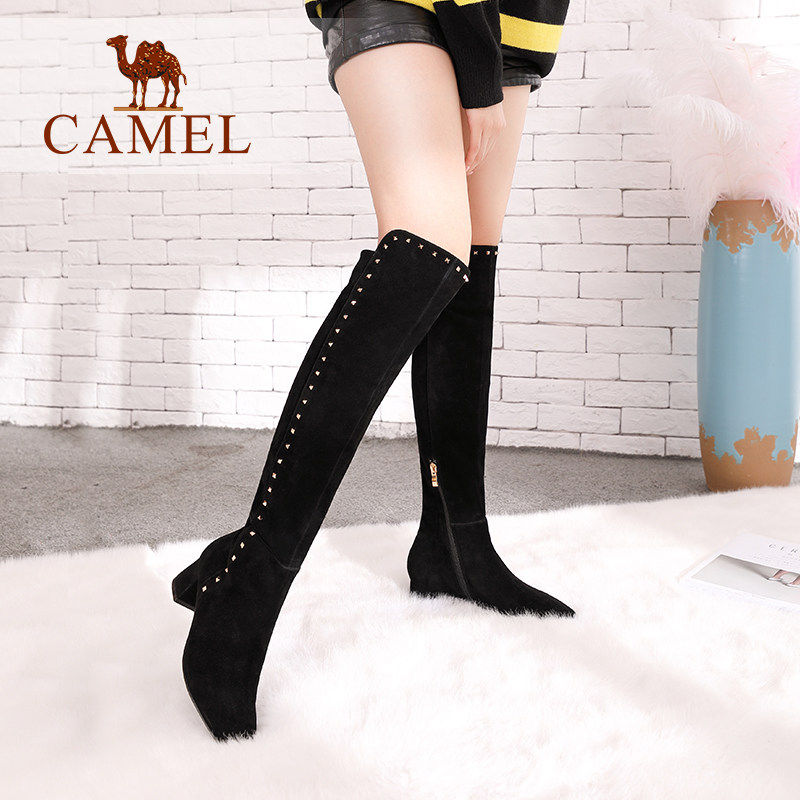 9f3303945e8e4 CAMEL-Winter-Over-The-Knee-Boots-for-Women-Casual-Shoes-Ladies-High-Heel -Lace-Fabric-Thin.jpg