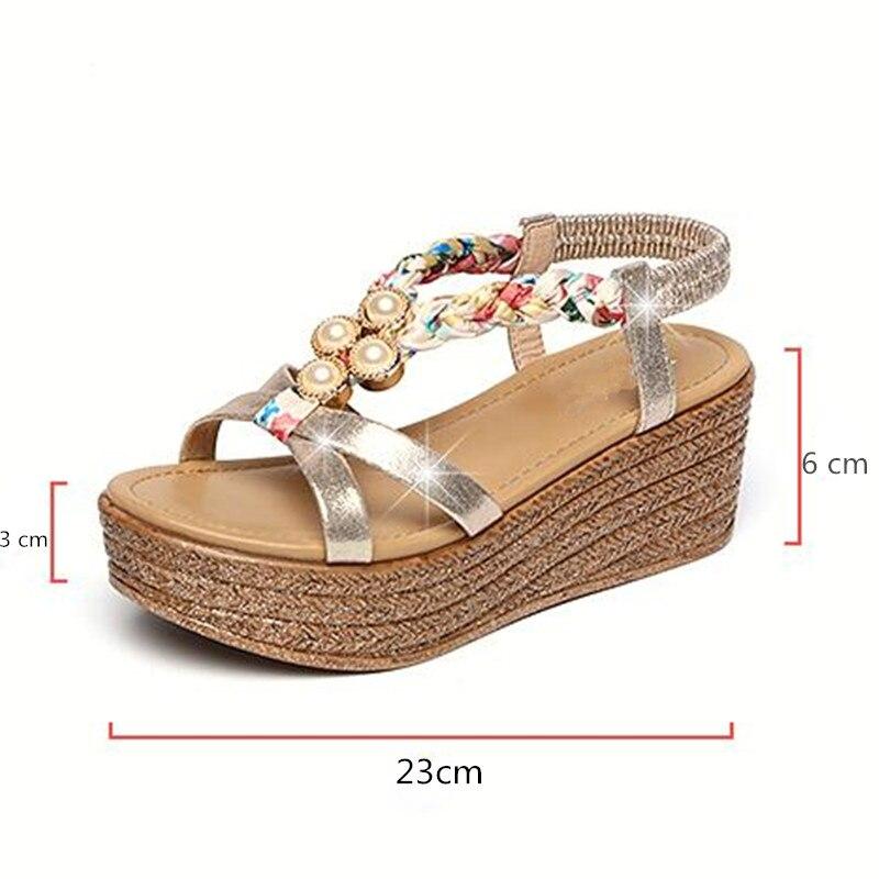 Hauts Sandales À Confortable Chaussures Compensées Or Lumière Argent Nm0nOv8w