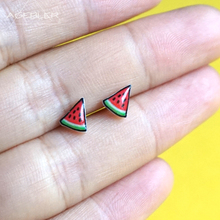 Triangle Watermelon Earrings For Women sterling-silver-jewelr Stud Earrings for Kids Handmade Magnet Original Fashion Jewelry