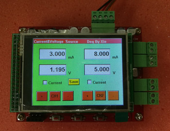 CNC Current Source UA Constant Current Source Module 2 Channels High Precision TFT Color Screen Touch Screen