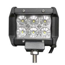 TRIPCRAFT 18 w LED LIGHT BAR PONTO FLOOD BOCA CAR WORKLIGHT para offroad barco caminhão auto ramp 4×4 4wd 6500 k luz de nevoeiro 12 V 24 V IP67