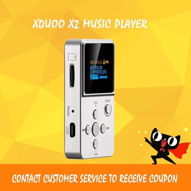 XDUOO X2 mp3 lecteur dsd décodeur sans perte flac lecteur salut fi lecteur de musique portable