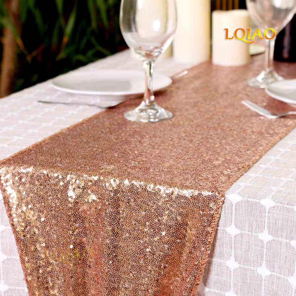Pack of 1 Measure 16 x 36 inches /… Sewing Beaded Table Runner in Gold Ivory Home Decor Mat for Wedding Christmas Decoration Family Gathering