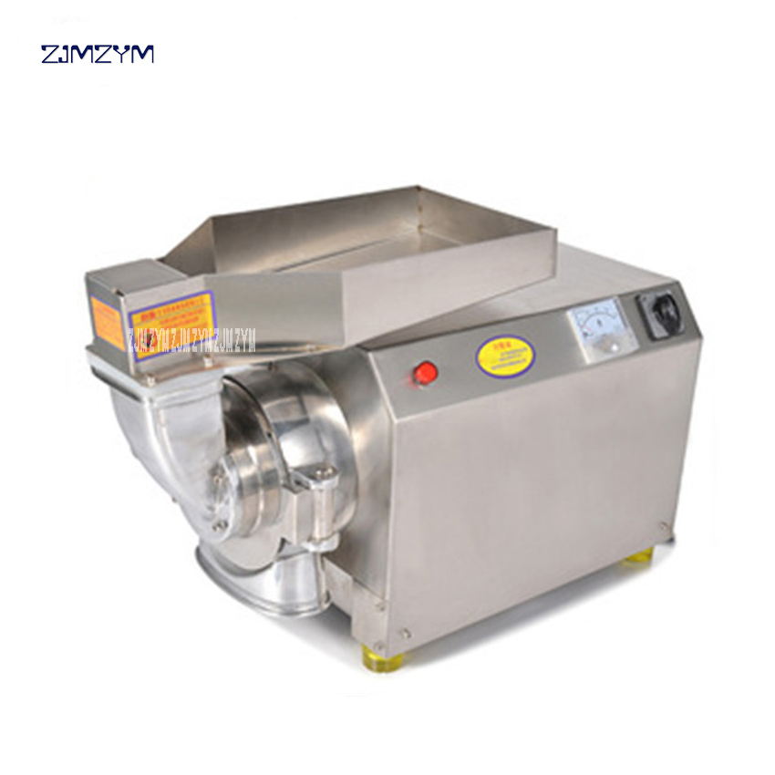 DLF-40 High efficient continuous powder grinding mill Stainless steel Dry Food Grinder Mill Grinding Machine home medicine 220V chinese supplier stainless steel 2000g 2kg household electric swing grinder mill small powder machine food grinding machine