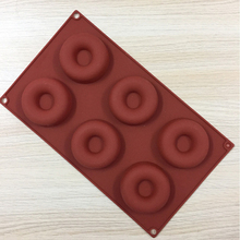 6-Hole Cavity Donut Baking Mold Chocolate Sugar Soap Silicone Donuts Shape Bakeware DIY Tools