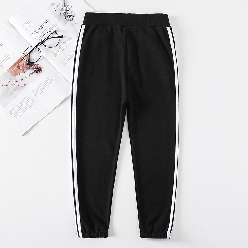 Family Matching Clothes Pants Mother and Daughter Trousers 2019 new spring autumn Elastic Sweatpants Pants father son outfits 6