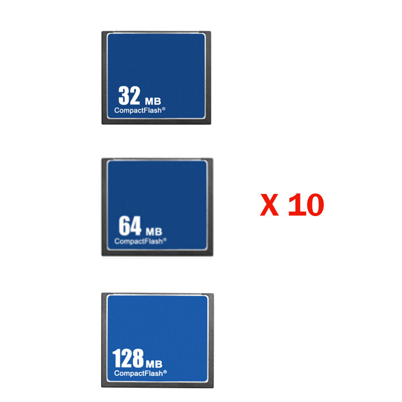 Wholesale Price 10PCS/Lot 32MB 64MB 128MB Compact Flash CF Card Compactflash Cards Digital Memory Card Camera Free Shipping