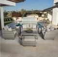 Sigma royal muebles sofá conjunto asientos de mimbre al aire libre muebles de jardín