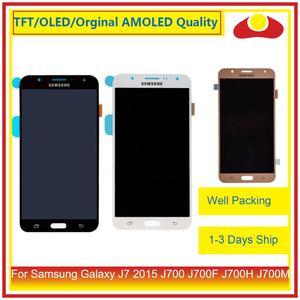 """Image 2 - ORIGINAL 5,5 """"Für Samsung Galaxy J7 2015 J700 J700F J700H J700M LCD Display Mit Touch Screen Digitizer Panel Pantalla komplette"""