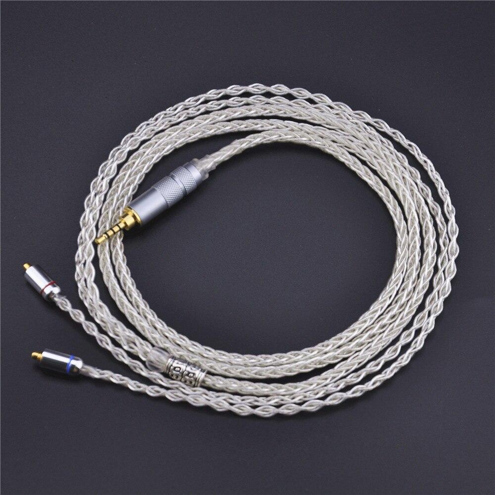 bilder für Wooeasy 2,5mm MMCX Kabel 8-core 7N Einkristall Kupfer Versilbert kabel Us Für Shure SE846 UE900 VT8 + 1 LZ A4 MaGaosi K3