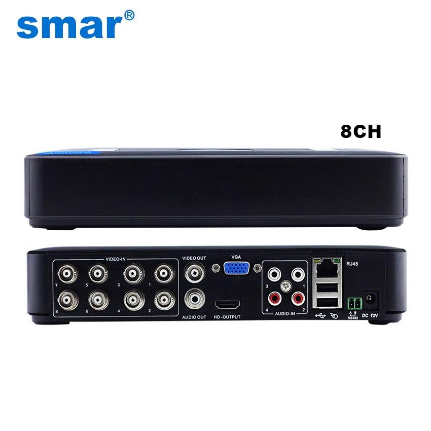 smar Official Store Smar мини 8CH полный D1 H.264 HDMI безопасности Системы cctv dvr 8-канальный 720 P 1080 P NVR Hybrid DVR регистраторы мобильный видеорегистратор RS485 PTZ Лидер продаж