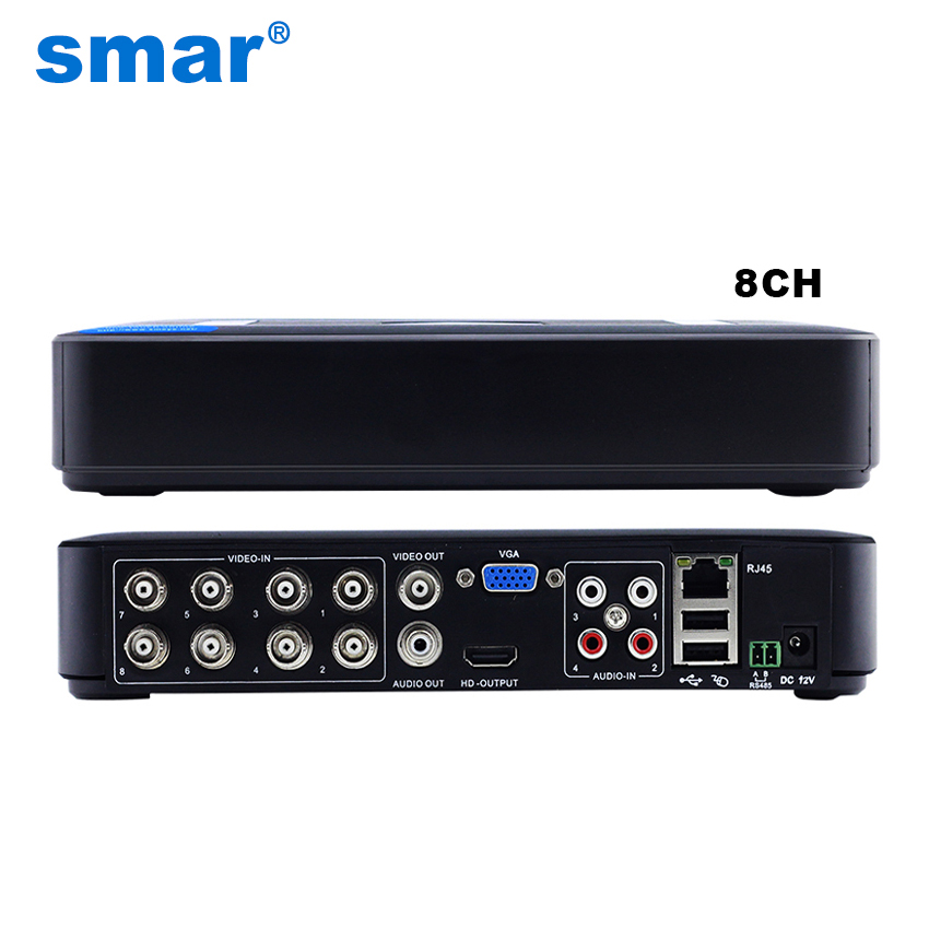 Smar Mini 8CH Full D1 H.264 HDMI Security System CCTV DVR 8 Channel 720P 1080P NVR Hybrid DVR Recorder Mobile DVR RS485 PTZ Hot