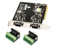 UT 713 PCI serial card PCI TO 2 Port RS485 RS422 COM Serial Port adapter converter card 600w Surge protection tvs