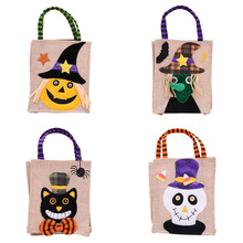 New Year Christmas Halloween Decorations Creative Cartoon Pumpkin Witch Gift Bag Children's Party Dressed Up Flax Candy ZB928 new i love football fencing helmet charm pendant necklace alloy ancient silver fashion women