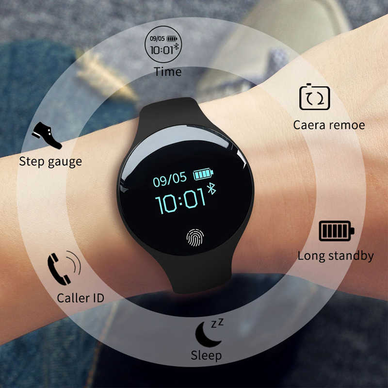 三田ブランド女性スポーツ腕時計防水カロリー歩数計ブレスレット贅沢な睡眠モニター GPS スマート腕時計アンドロイド Ios 用