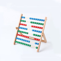 Montessori Materials Montessori Toys Wooden Abacus 100 Bead Game Montessori Math Matiques Learning Toys For Children C546Z