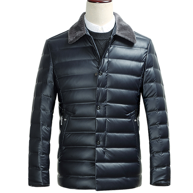 2016 New Arrival moda turn-down collar dos homens de inverno pato Branco para baixo jacket.3color, M, L, XL, XXL, XXXL.