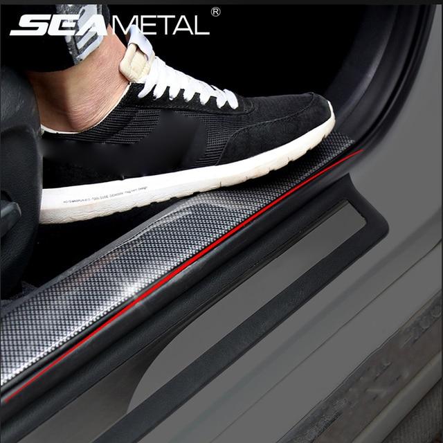 Us 4 99 35 Off Car Carbon Fiber Stickers Vinyl Door Bumper Film Protector Trim Trunk Pedal Decoration Decal Auto Accessories For Bmw M4 Audi Tt In