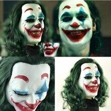 Film Joker Arthur Fleck maskesi Cosplay lateks maskeleri cadılar bayramı partisi