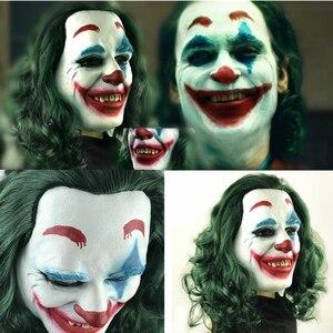 Image 1 - Masque de film Joker Arthur Fleck, masques en Latex pour Cosplay pour fête dhalloween