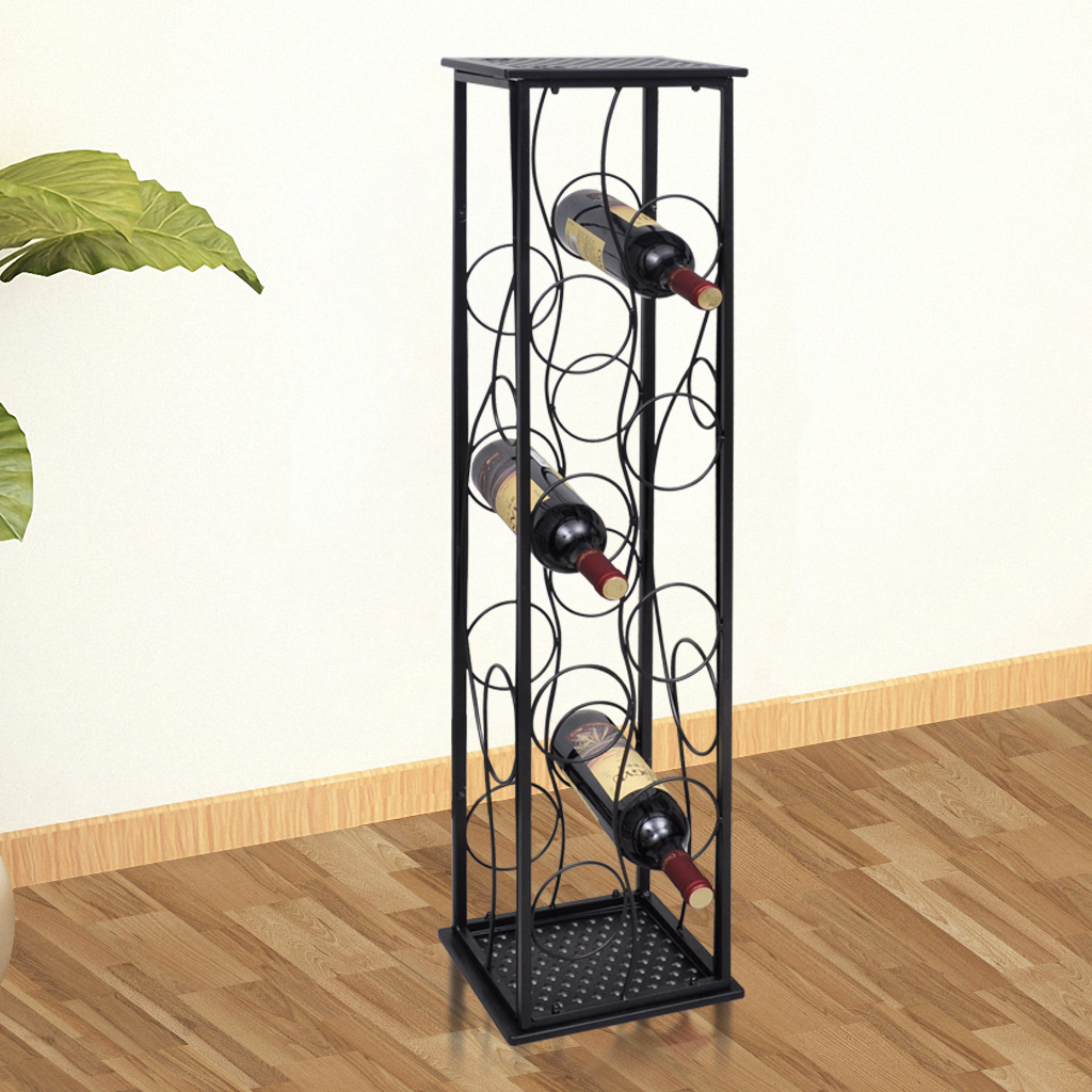 This Floor Standing Wine Rack Is A Real Eye Catcher Wherever It Goes Made Of Wrought Iron Fully Powder Coated To Be Rust Free And Will