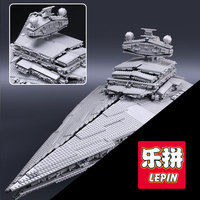 LEPIN 05027 3250Pcs Star Wars Emperor Fighters Starship Model Building Kit Blocks Bricks Toy Compatible