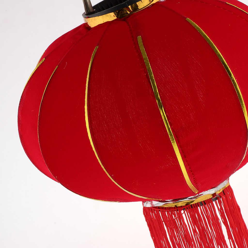 Chinesische Beflockung Rote Laterne Glück Reichtum Frühling Festliche Balkon Tor Hängen Dekor