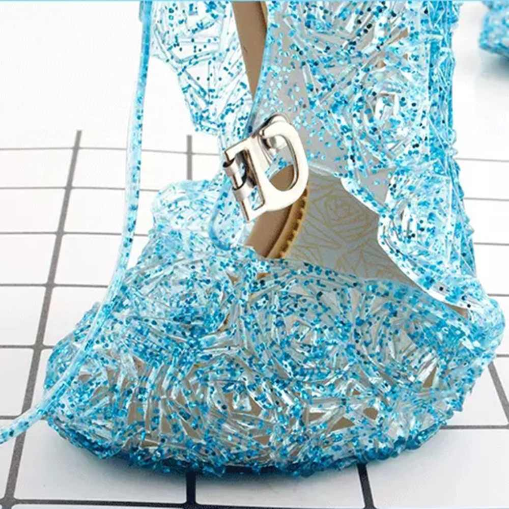 New Frozen Elsa Little Lady Sweet Toddler Infant Kids Baby Girls Wedge Cosplay Party Single Princess Shoes Sandals