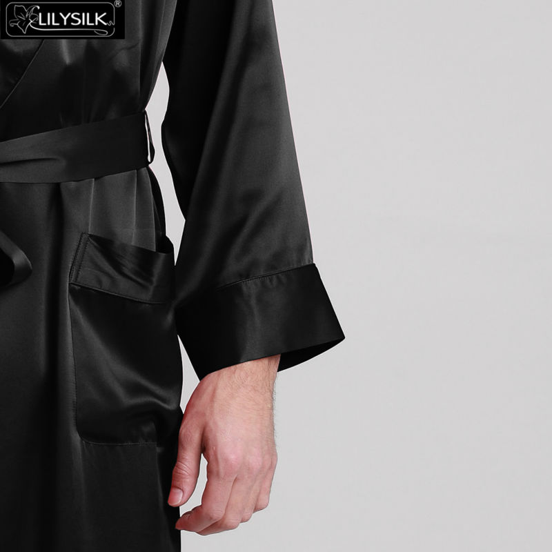 1000-black-22-momme-lapel-collar-long-silk-dressing-gown-01
