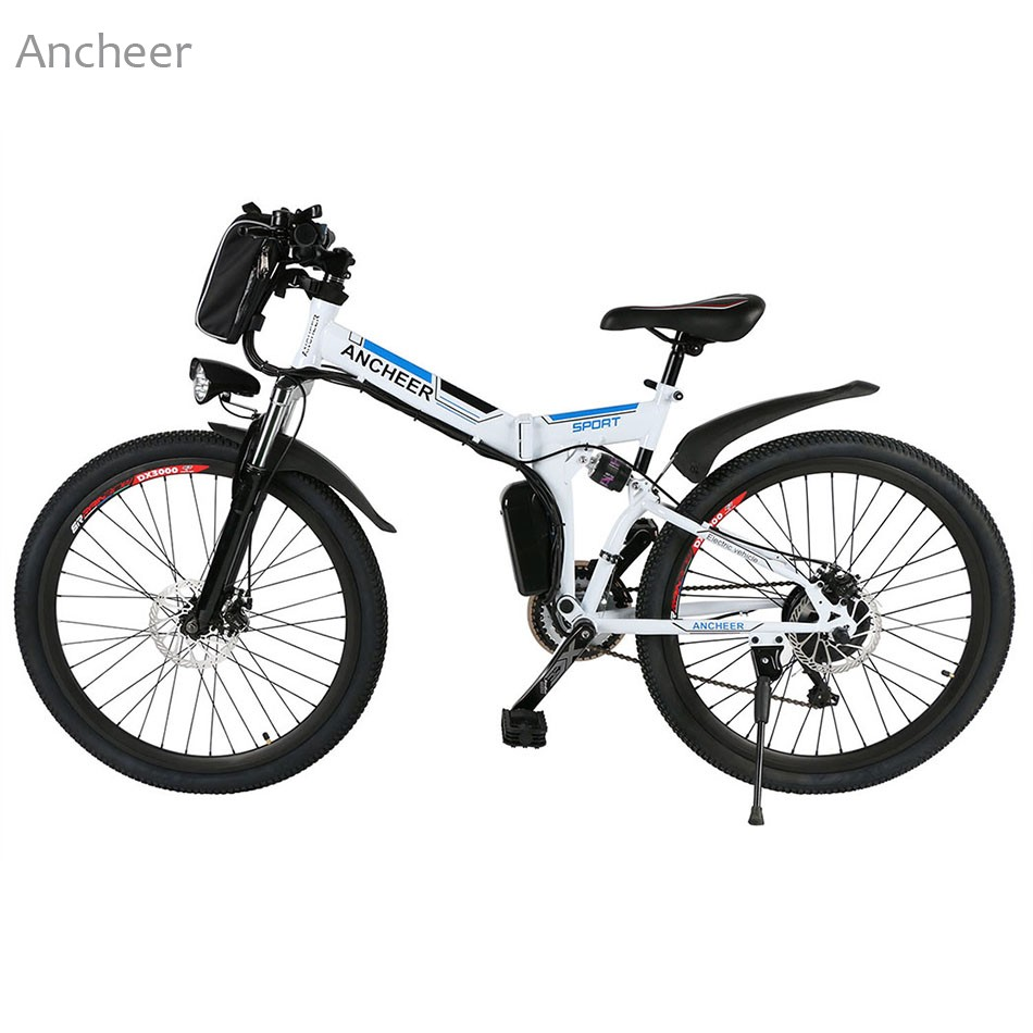 70812a4b831 ANCHEER New Electric Bike 26'' Mountain Bike 36V Foldable Electric Power  Mountain Bicycle with Lithium Ion Battery ebike E bike-in Bicycle from  Sports ...
