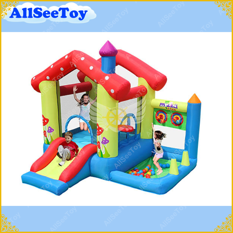 Inflatable Baby Jumping Castle for Family Use,Bounce House with Ball Pool,Bouncy Castle with Air Blower