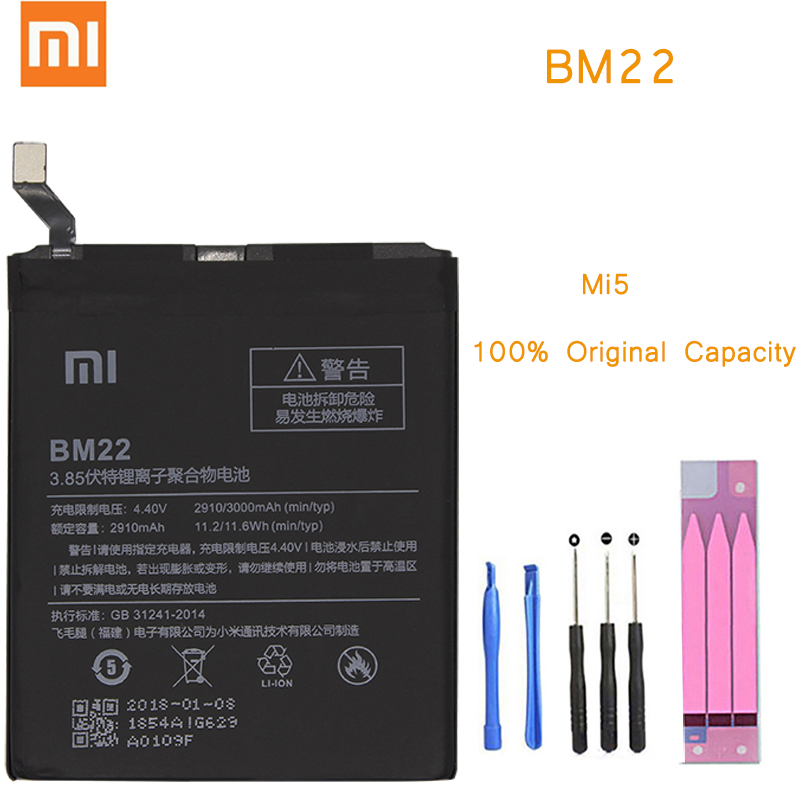 Original Phone Battery for Mi5 Battery Xiaomi Mi5 BM22 Replacement Batteries with Retail Package bateria for xiaomi Mi 5 M5Original Phone Battery for Mi5 Battery Xiaomi Mi5 BM22 Replacement Batteries with Retail Package bateria for xiaomi Mi 5 M5