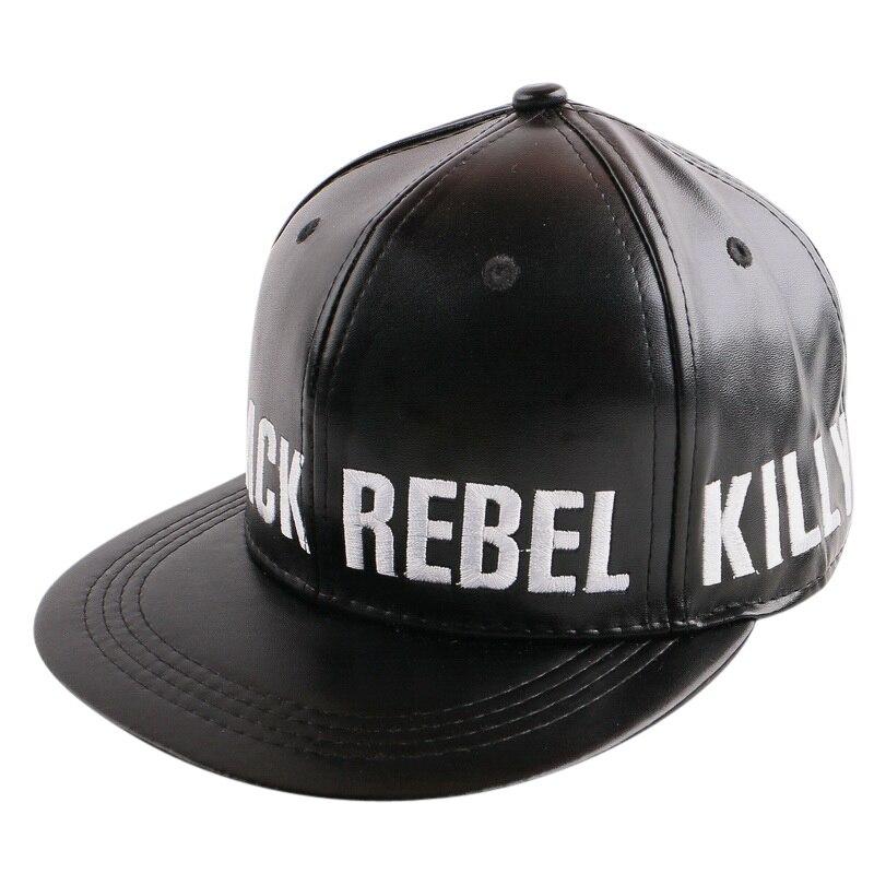leather baseball cap with fur pom wholesale font women men brand black white faux