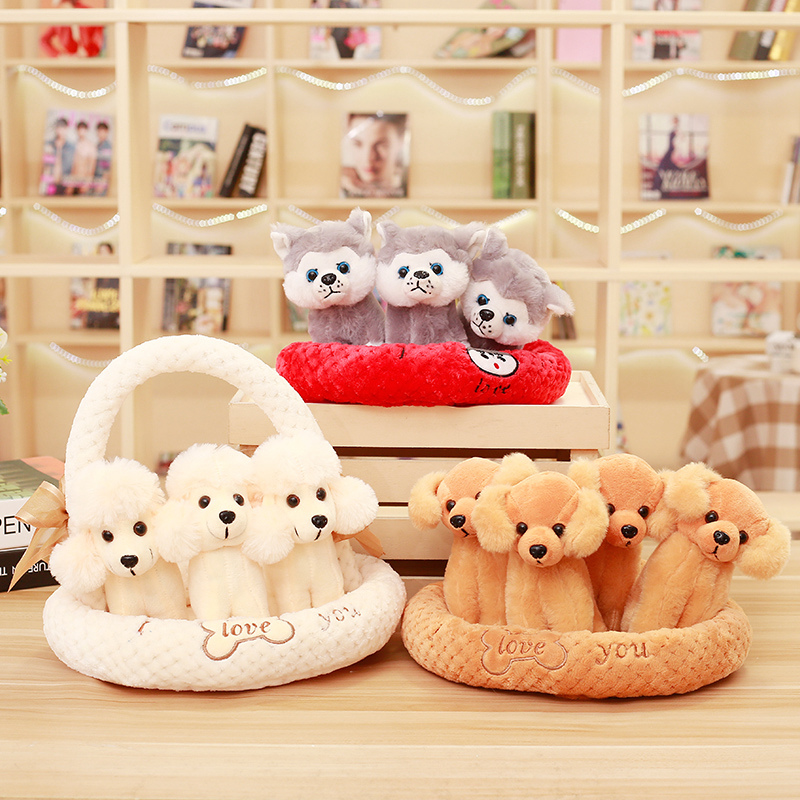 1PC PUPPY DOG KID CHILDREN BABY LOVELY PLUSH DOLL SOFT BEAR STUFFED ANIMALS TOY