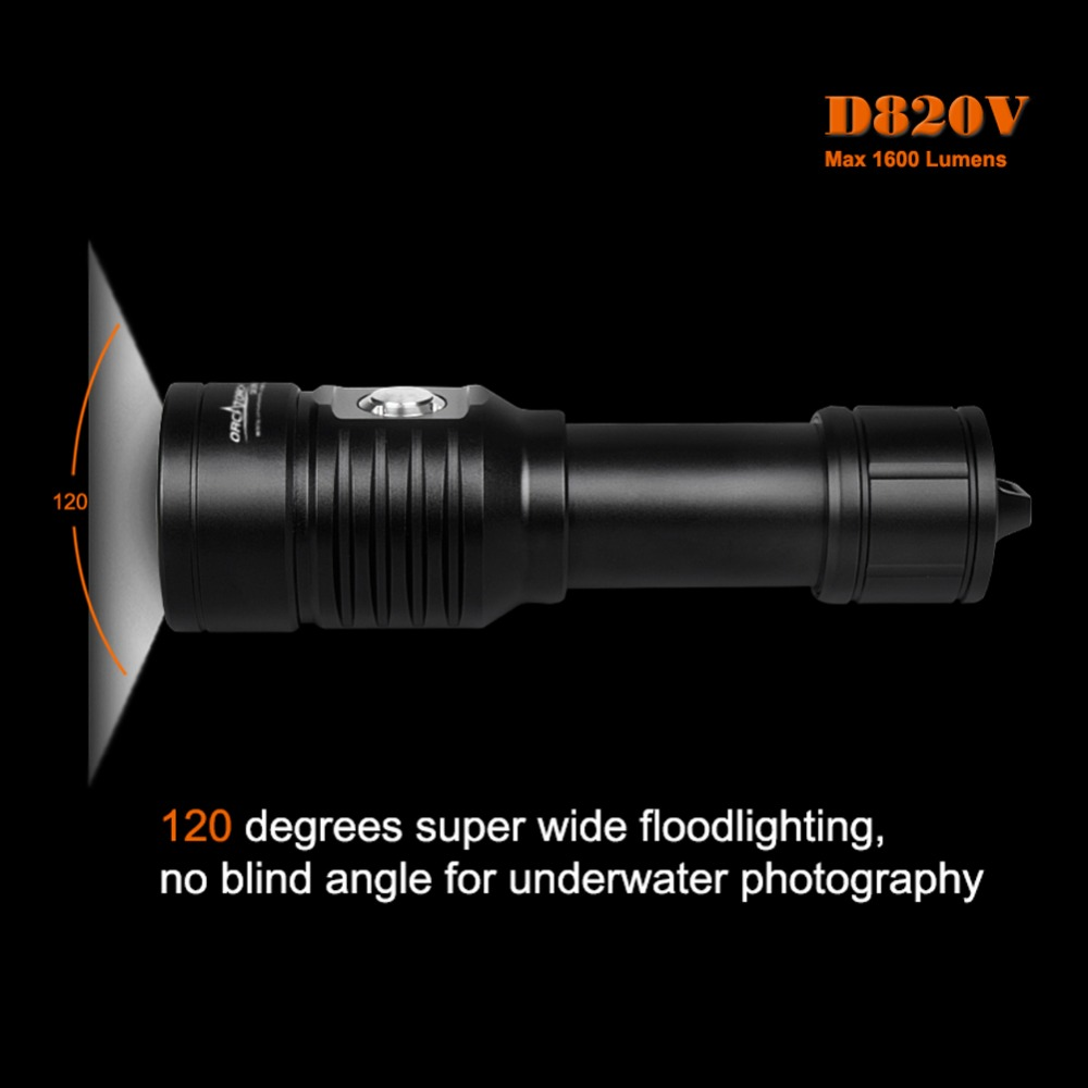 LED lampe de poche de plongée sous marine photographie vidéo caméra tactique lampe de poche D820v 120 degrés blanc UV rouge LED lanterne torche - 4