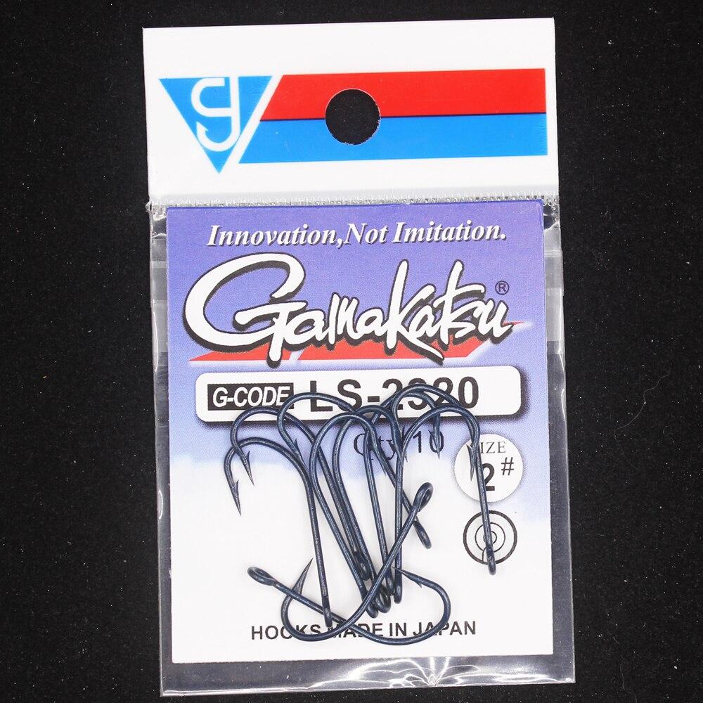 10pcs/lot 2#-10# Blue Fishing Hooks  High Carbon Steel 2320  Kirby Sea Hooks With Ringed Pesca Tackle Hooks Gamakatsu