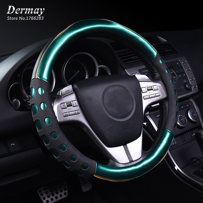 3D Non-slip Personalized Cute Steering Wheel Covers Colourful Leather & PVC Luxury Car Accessories For Girls ...