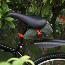 Tourbon Bike Saddle Bag Bicycle Seat Tail Case Waxed Canvas Phone Pouch Cycling Accessories Water Repellent